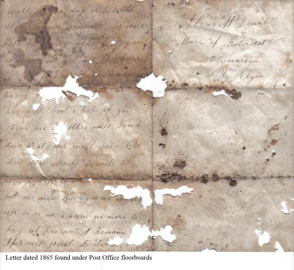 1865 - PO letter - back page