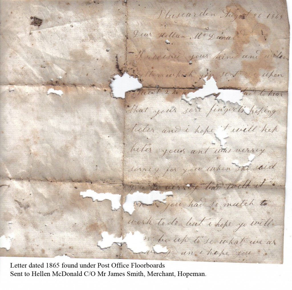 1865 - PO letter - front page