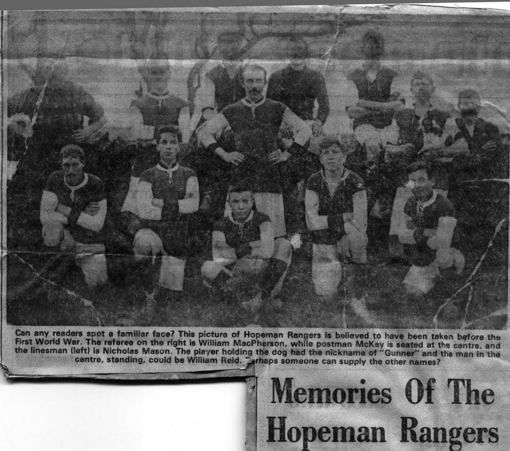 1910c - Memories of the Hopeman Rangers