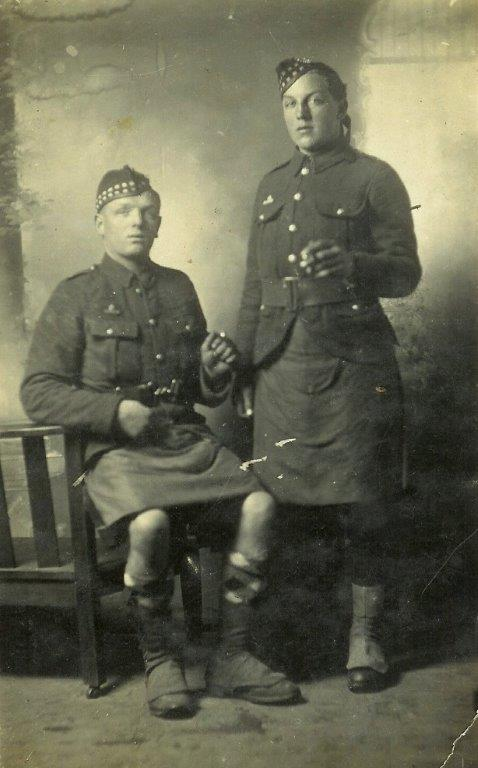 1914 - Private John McHardie seated.