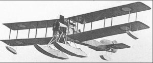 Type of seaplane which ditched into the sea off Hopeman during Oct 1914