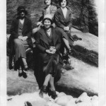 1930s - Hopeman Models at Clashach. Mary More, Margaret More, Bella Ralph & Jessie Young