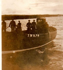 1932 - LATISHA INS 70 entering Hopeman for completion.
