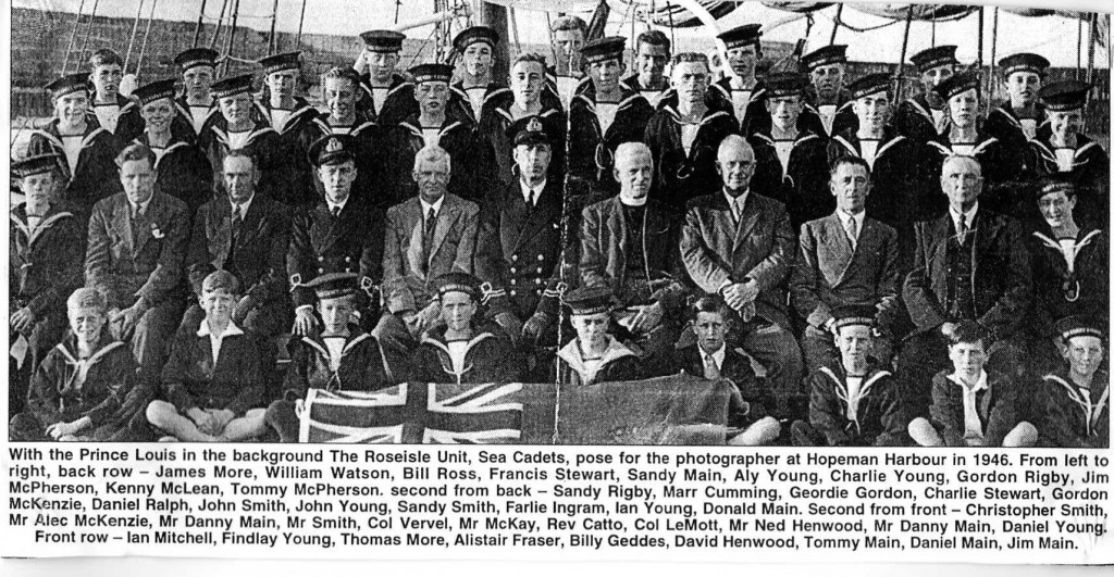 1946- Sea Cadets in Hopeman