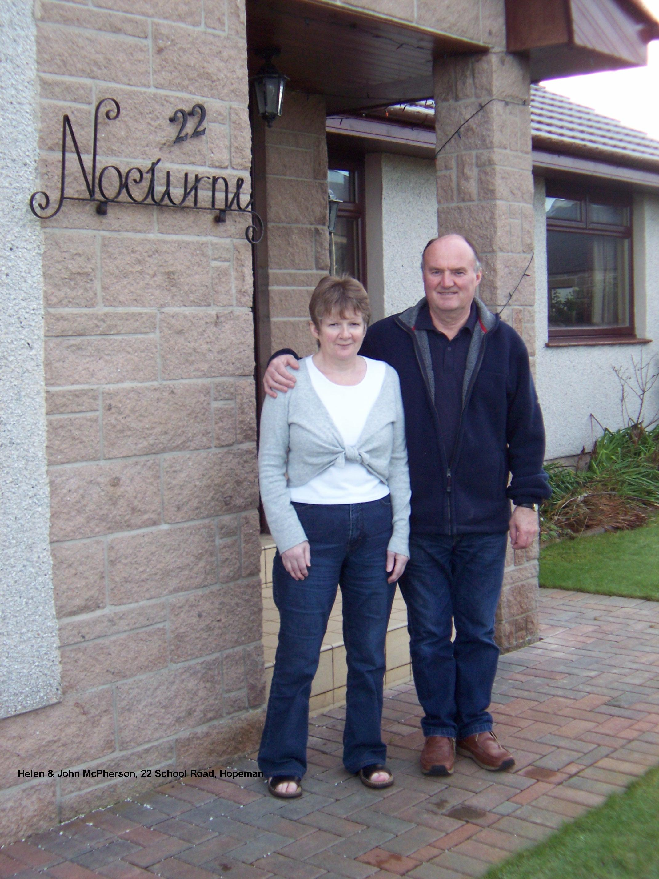 2005- Helen & John McPherson 22 School Road