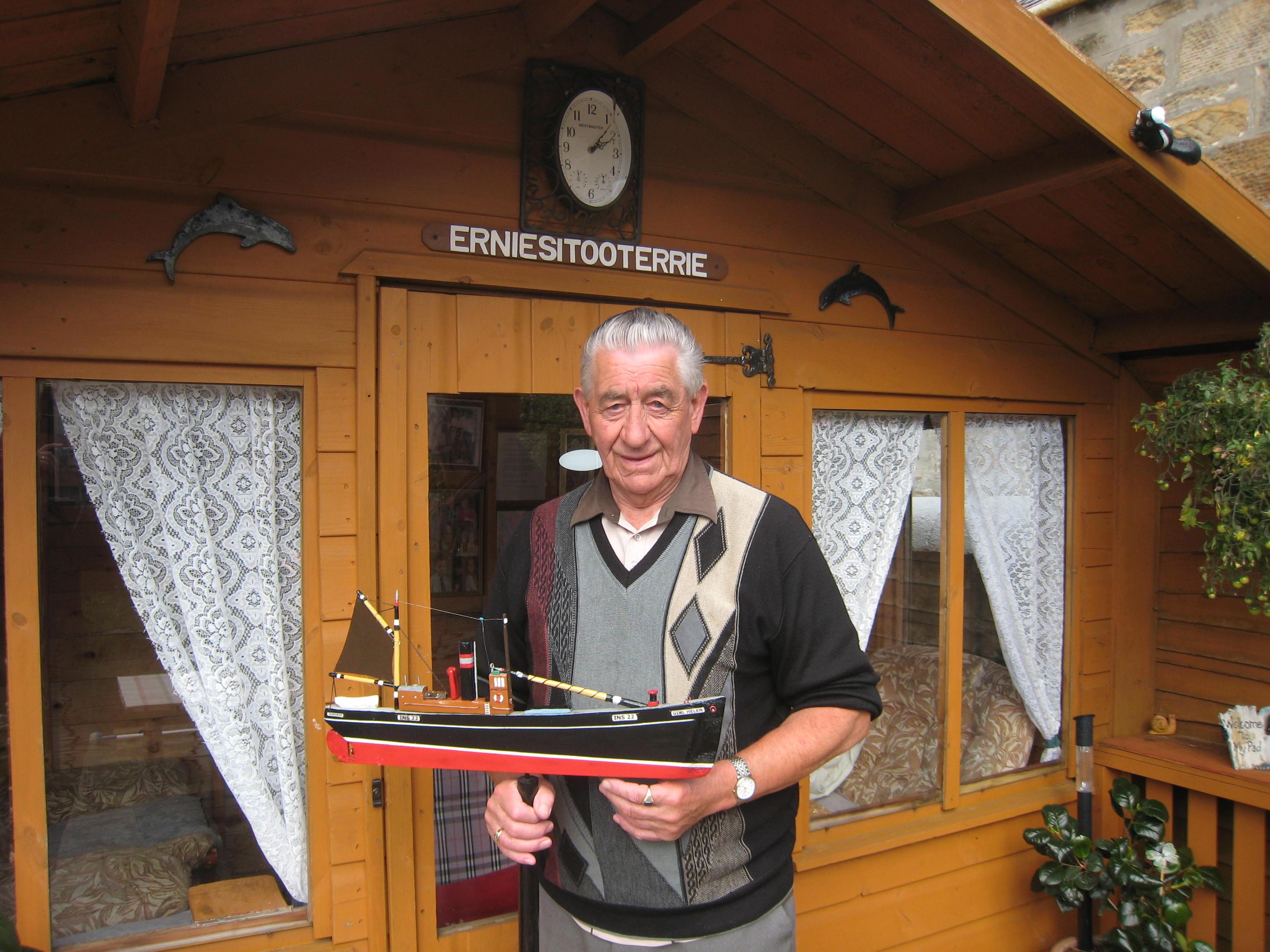 2011- Ernie More & model boat