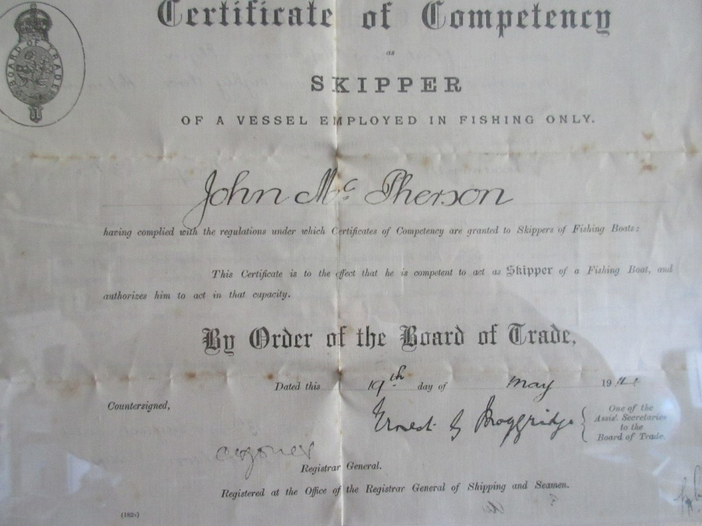 John McPherson Skippers ticket