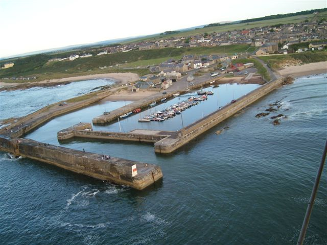 2009- Harbour looking south east with marina in the new pier.