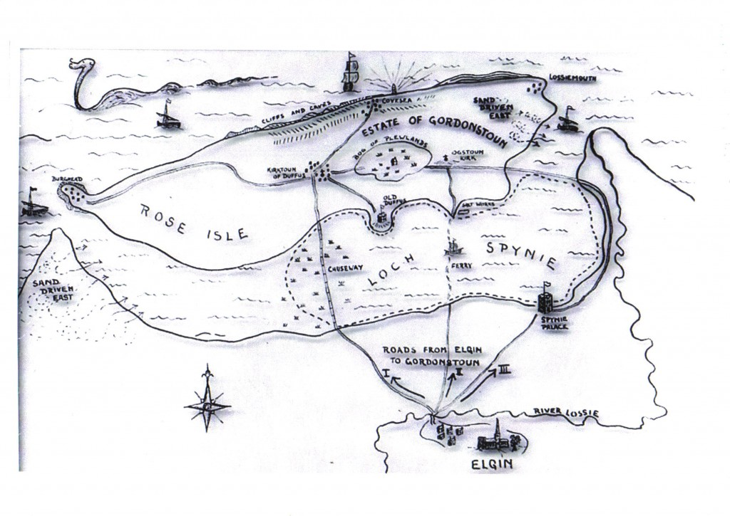 Spynie Loch map