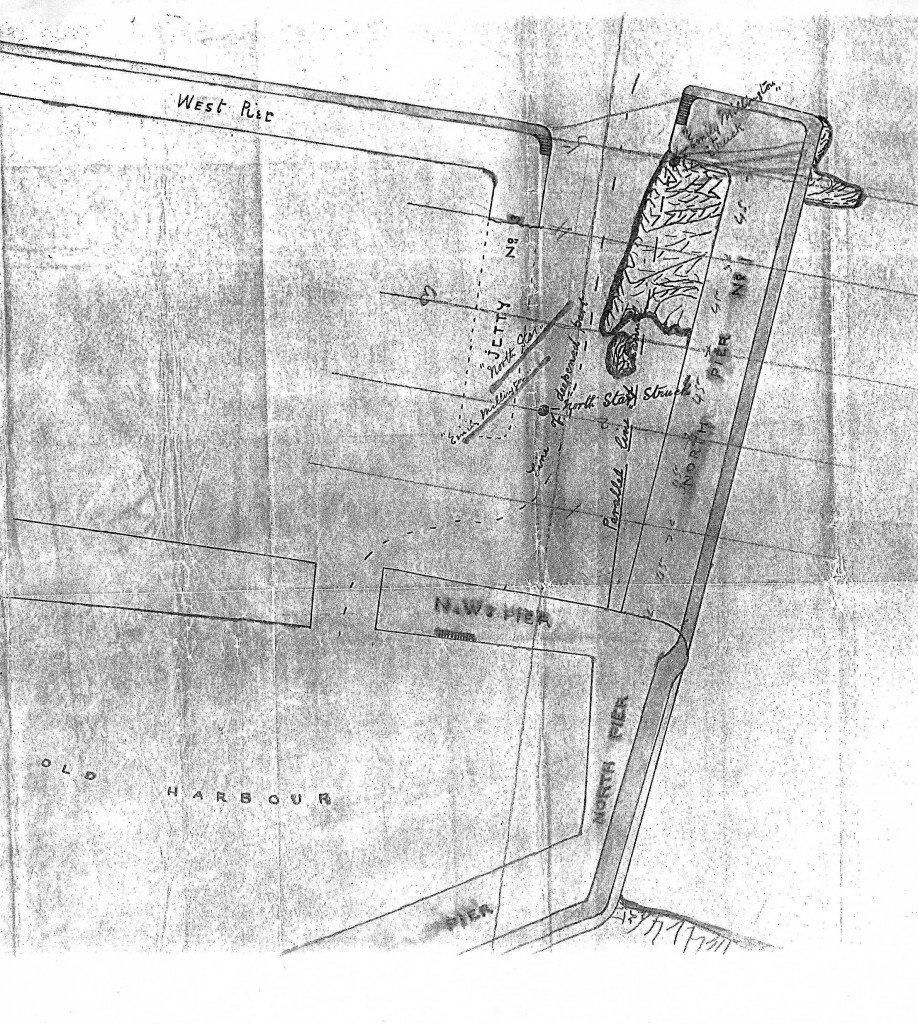 1882c - Plan of proposed extension to the old harbour.