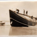 1930 - Boat Launch on Beach from Findlays yard.