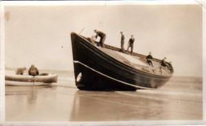 1930 - Boat Launch on Beach from Findlays yard.